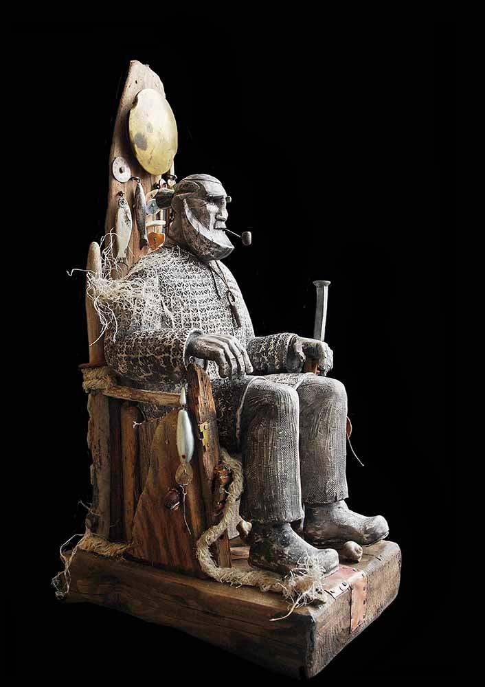 Image of JOE LAWRENCE - 'FISHER KING' - UNIQUE SCULPTURE