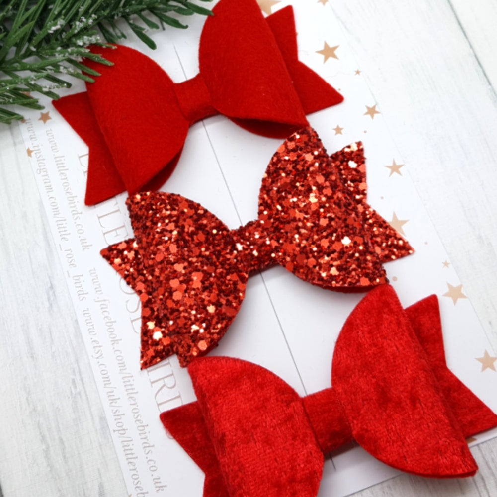 Image of Red Hair Bows