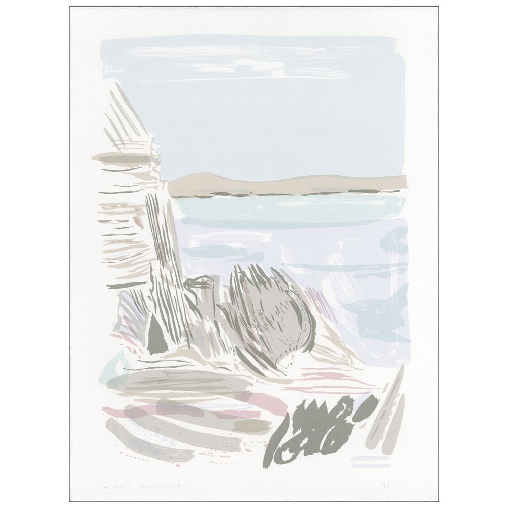 Image of Skye rocks screen print