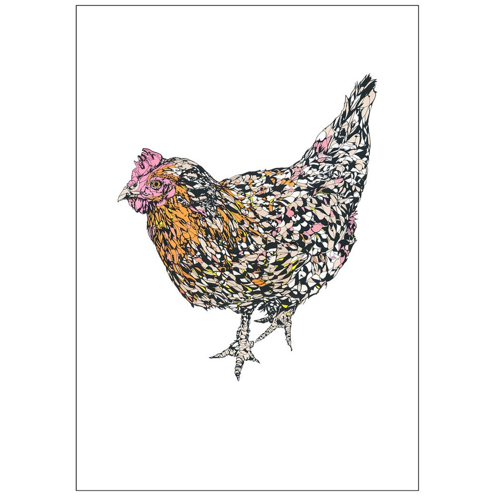 Image of Hen screenprint
