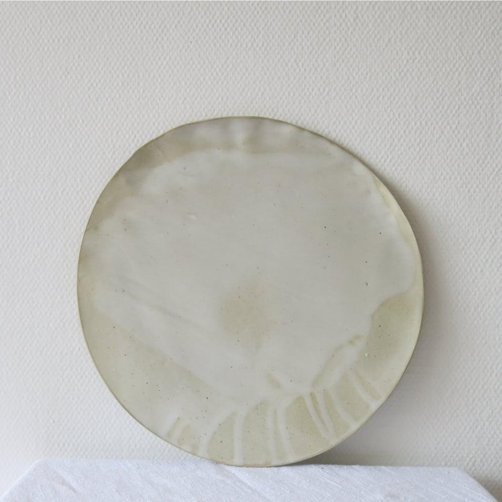 Image of Assiette en grès - émail blanc