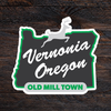 Green Old Mill Town Sticker