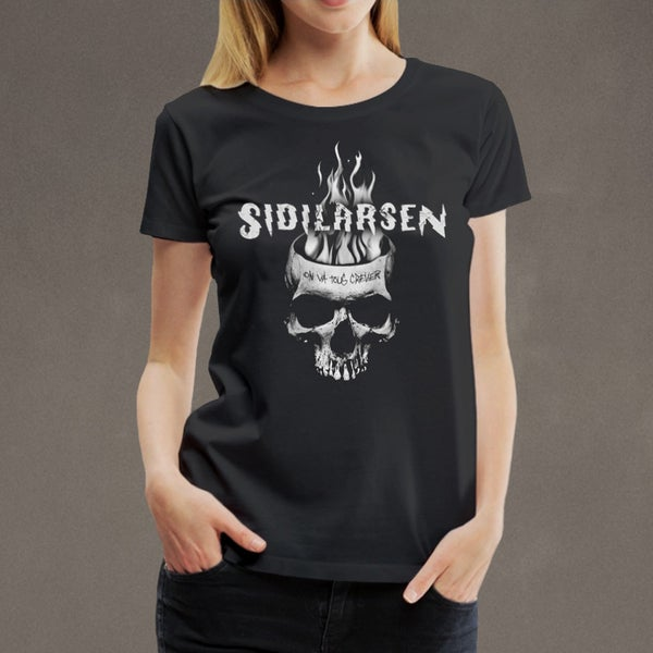 "Image of T-shirt girly ""Fireskull"""