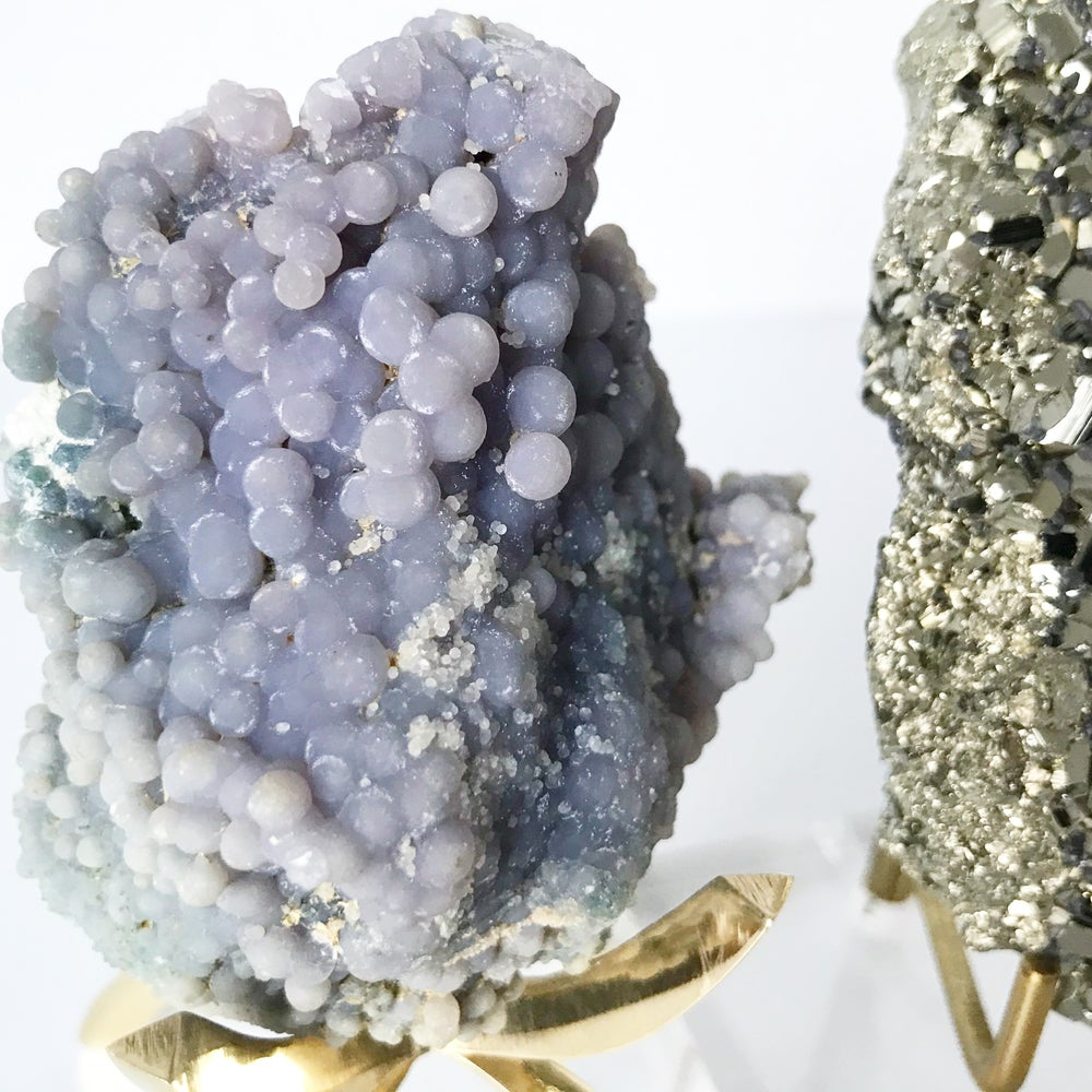 Image of Grape Agate no.179 + Brass Claw Stand