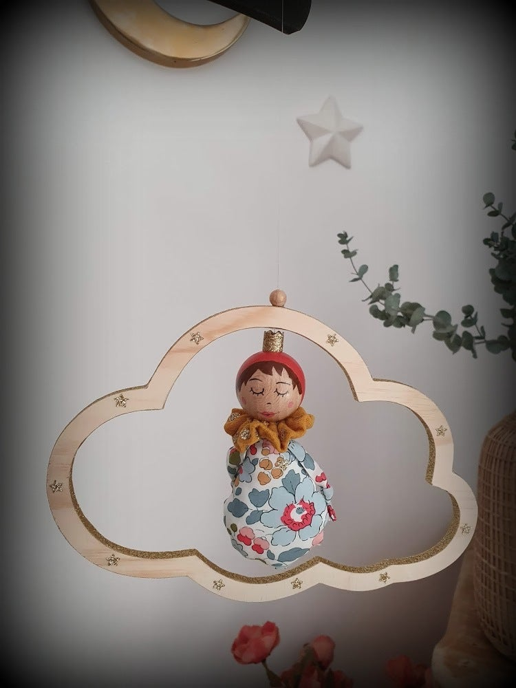 Image of Mobile Nulucciu (petit nuage) Liberty Betsy porcelaine