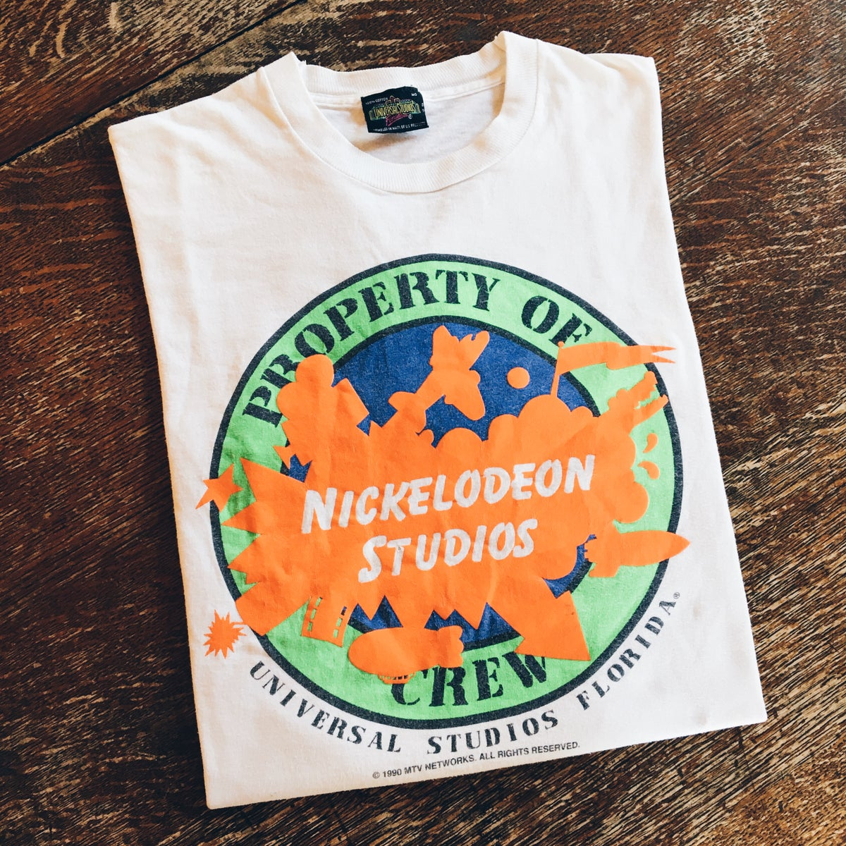 Image of Original 1990 MTV Nickelodeon Studios Tee.
