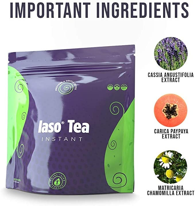 TLC Total Life Changes IASO Natural Detox Instant Herbal Tea (25 Count (Pack of 1)