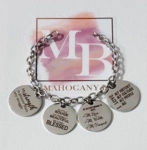 Image of Affirmation Charm Bracelet