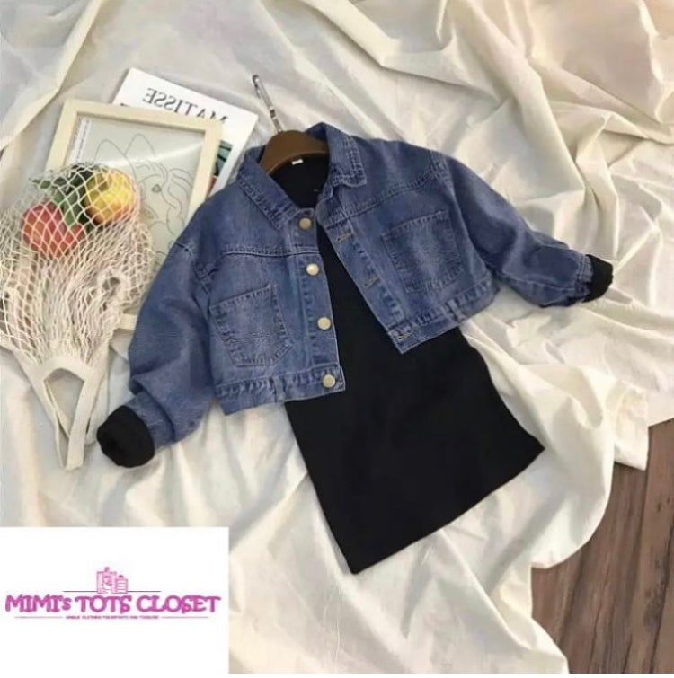 Image of GIRLY DENIM JACKET/ dress