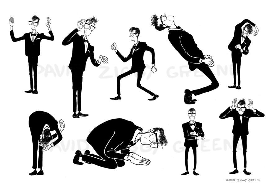 David Byrne dance print