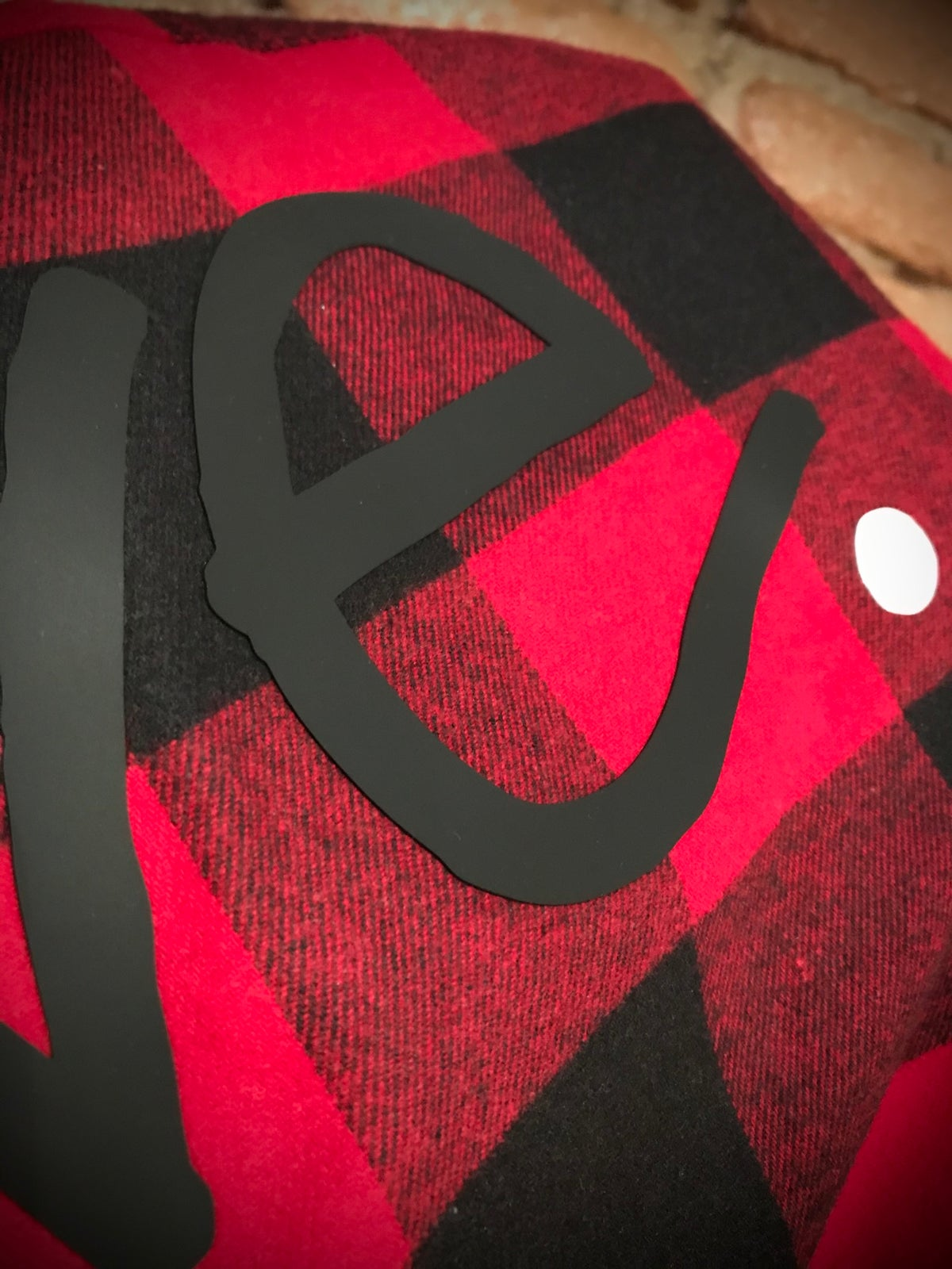 "Image of Red Lumberjack ""Love...period! Button Up"