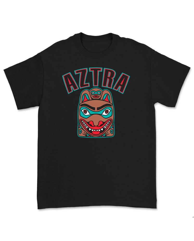 "Image of AZTRA ""KOIRA"" T-PAITA (MUSTA)"