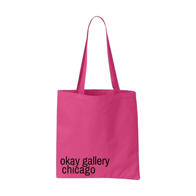 Image of okay gallery chicago Classic Tote Bag Pink