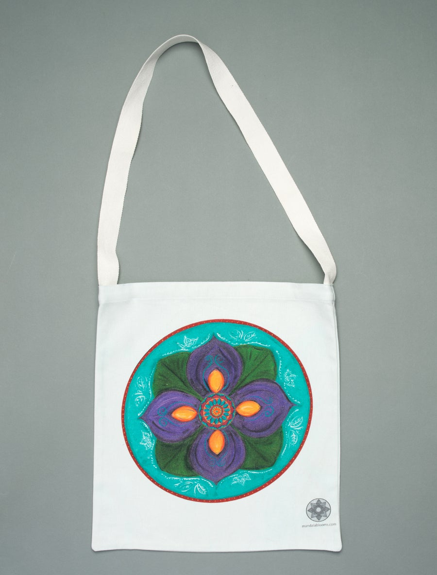 Image of Purple Lotus mandala tote bag