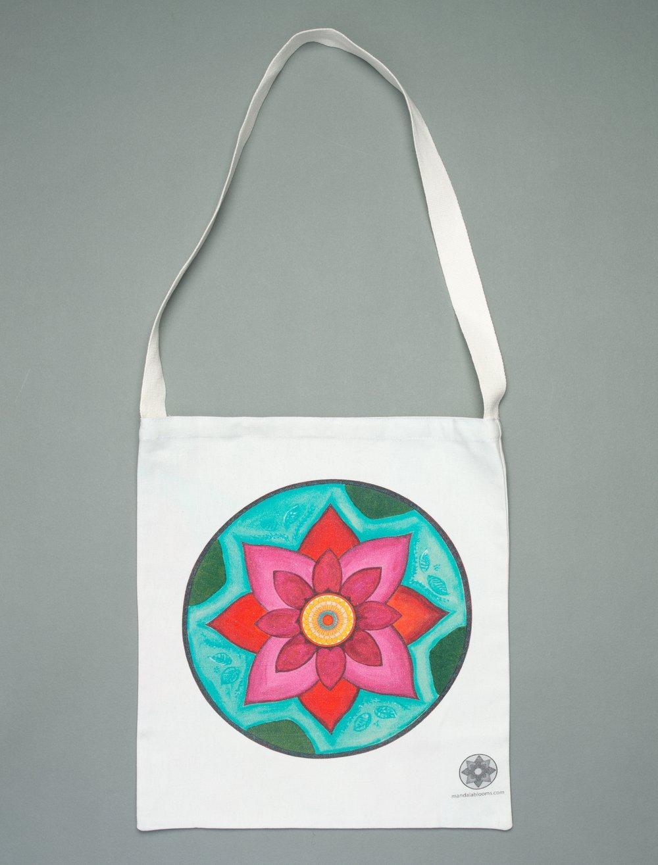 Image of Pink Lotus mandala tote bag