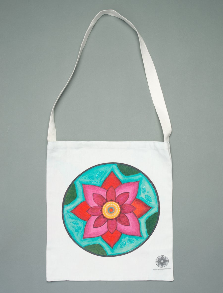 Image of Pink Lotus mandala tote bag