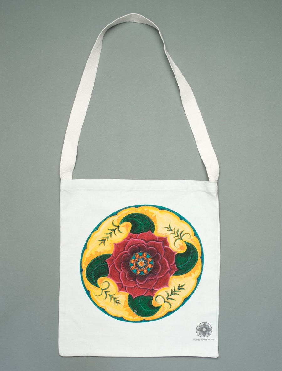 Image of Mehndi Rose mandala tote bag