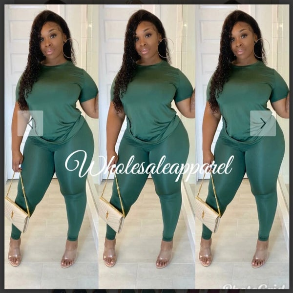 Image of OLIVE CHILLLAX  2 PIECE PANT SET