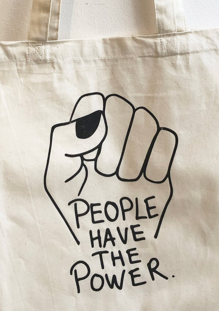 Image of People have the power - tote