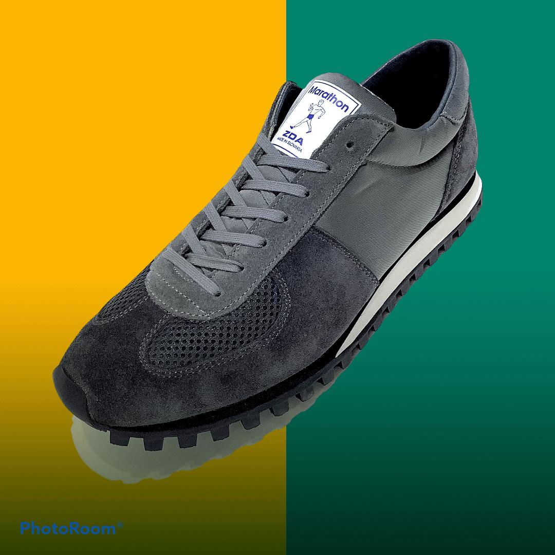 Image of ZDA marathon original grey runner sneaker shoes made in Slovakia