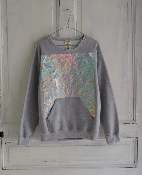 "Image of ART IS RESISTANCE BY NACO-PARIS "" HOLOGRAMS "" UNISEX SWEATER"