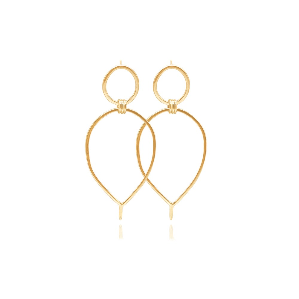 Image of Gold Lunaria earrings