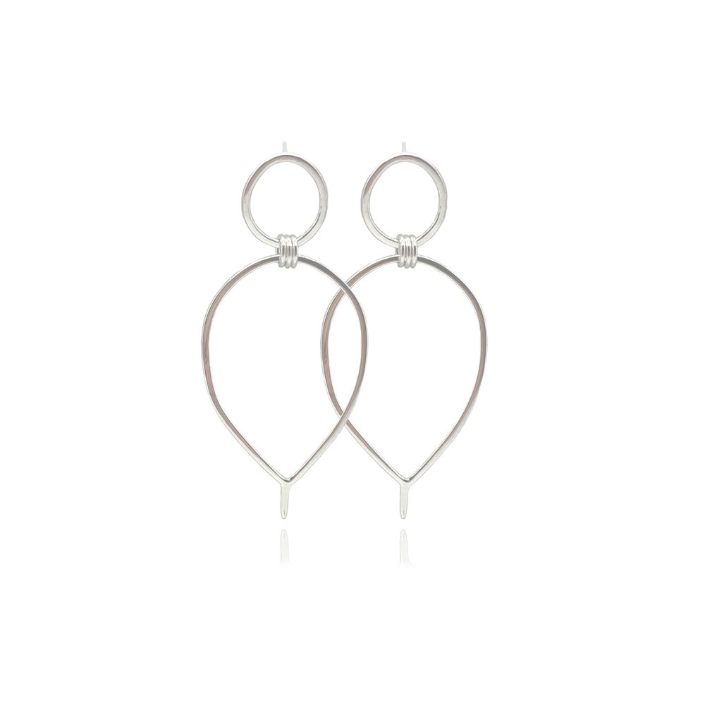 Image of Silver Lunaria earrings