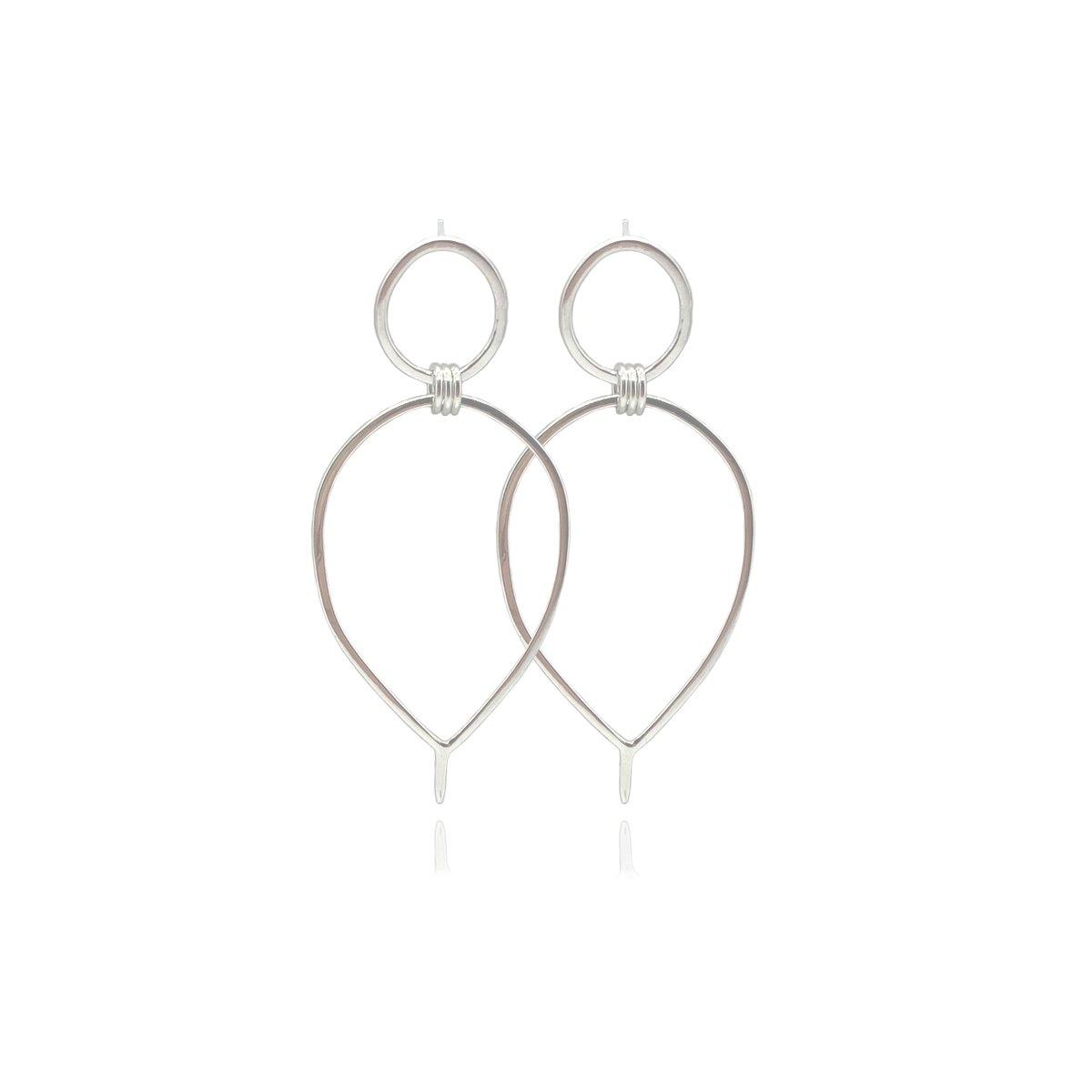 Image of Silver Lunaria earrings