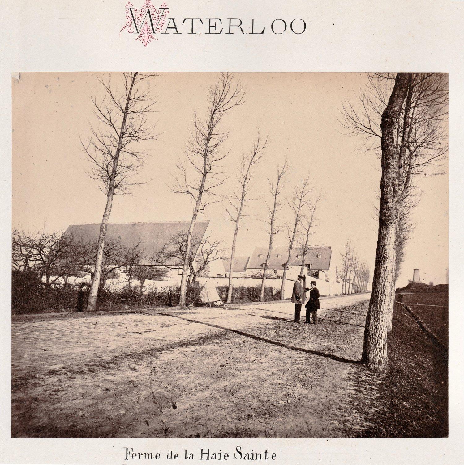 Image of Adolphe Braun: Waterloo, la Ferme de la Haie Sainte, ca. 1864