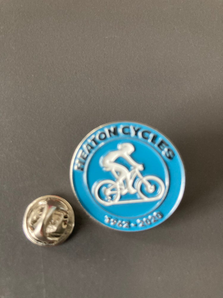 Image of Heaton Cycles enamel badge