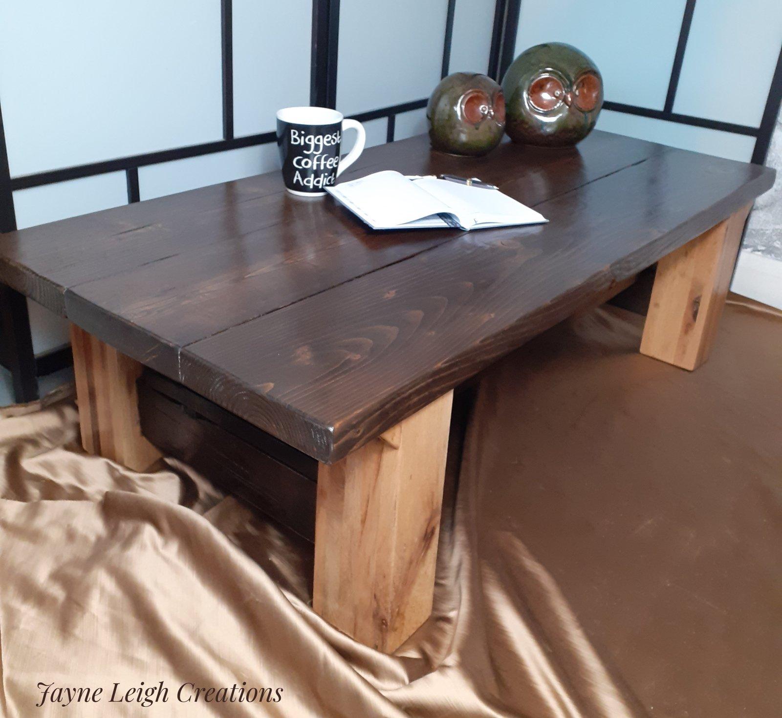 Chunky Rustic Coffee Table Jayne Leigh Creations