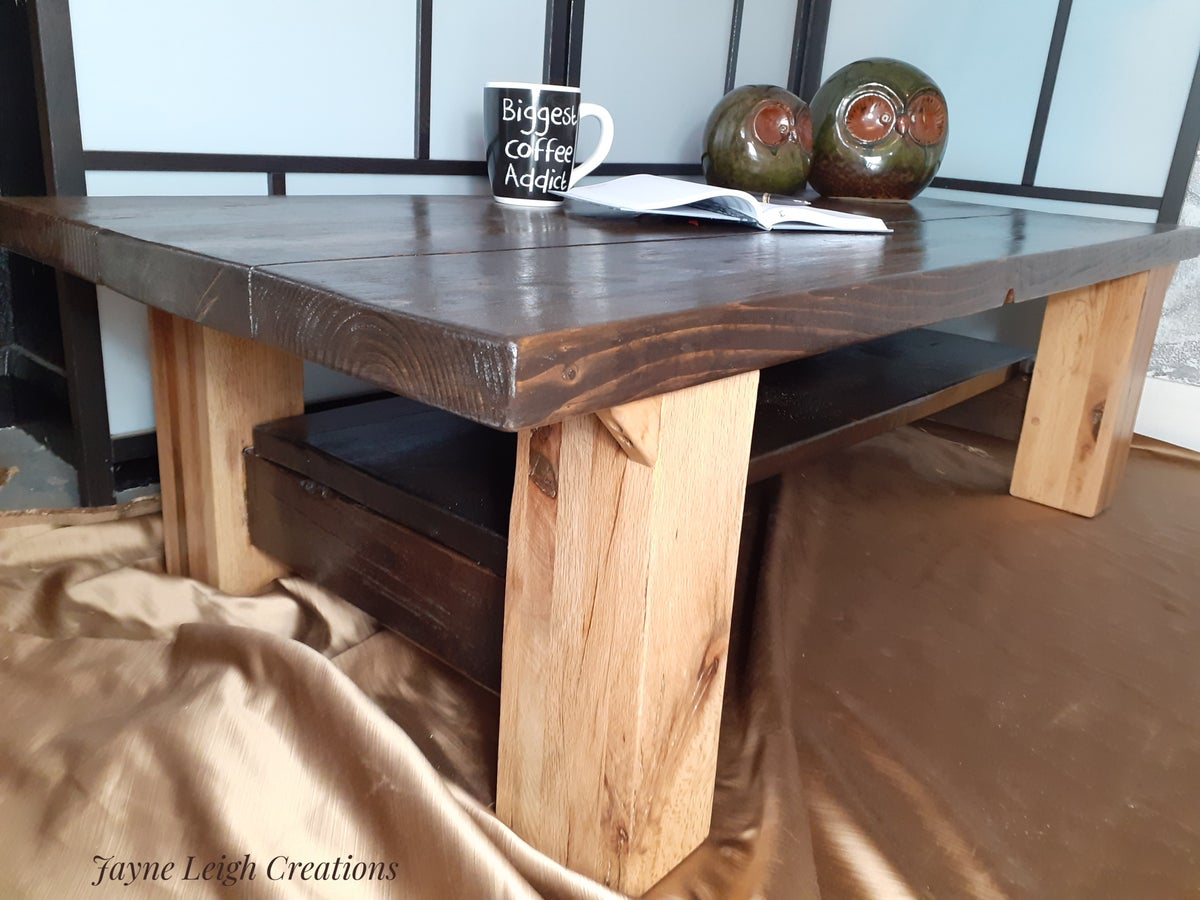 Image of Chunky Rustic Coffee Table