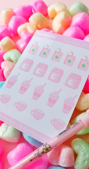 Cute Kawaii Drinks Stickers