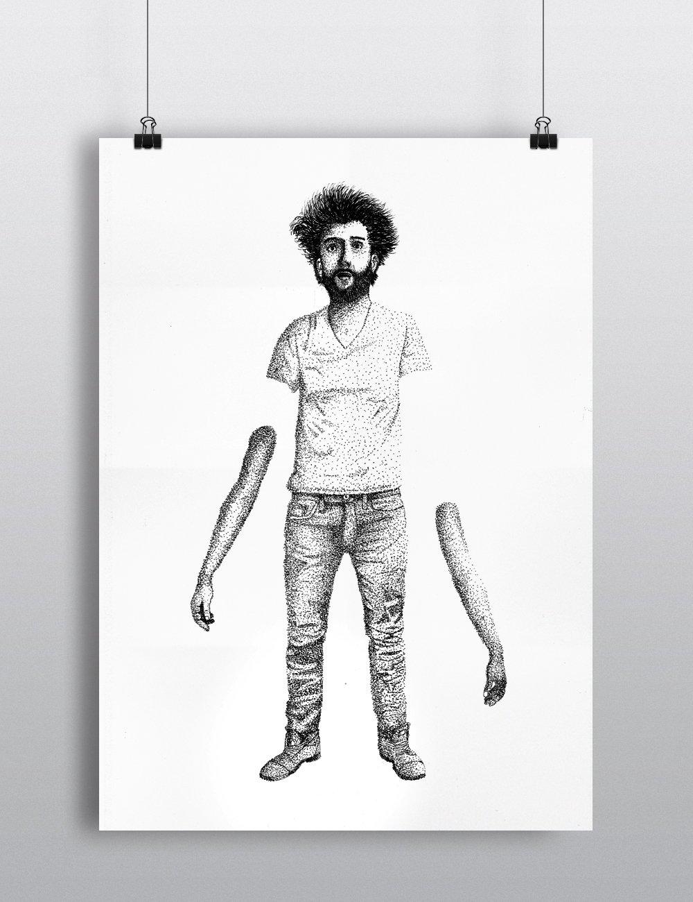 """Sérigraphie / """"Les bras m'en tombent"""""""