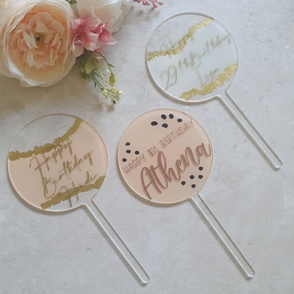 Image of Bespoke acrylic toppers - ALL SHAPES