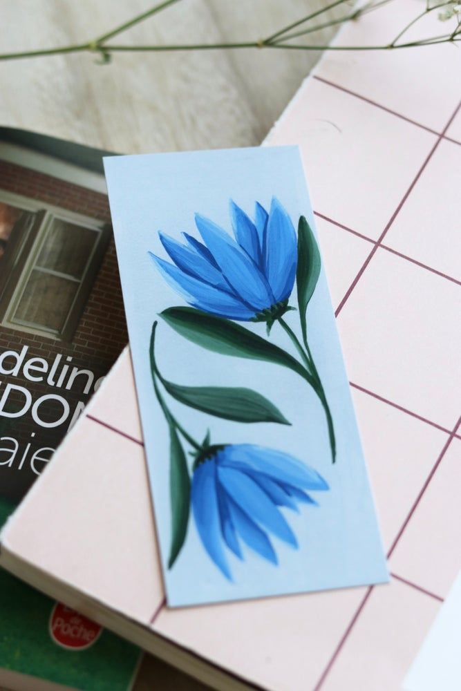"Image of Marque-Pages ""Fleurs Bleues"""
