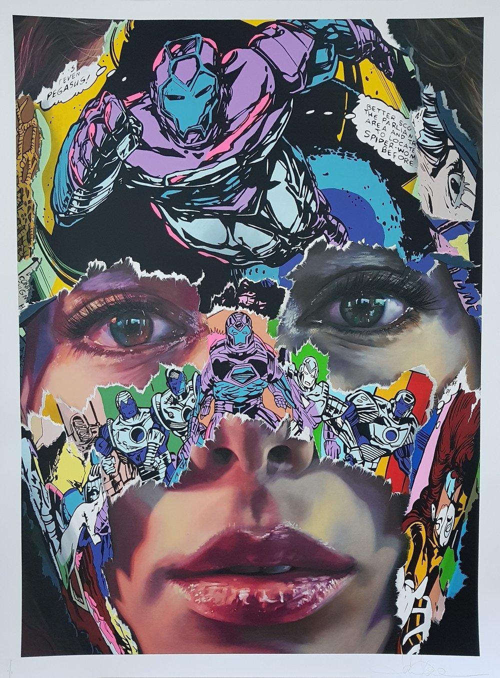 """Image of SANDRA CHEVRIER """"LA CAGE A L`UNISSON"""" - UNIQUE 1/1 - 100CM X 70CM"""