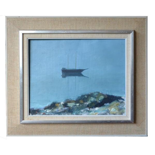 Image of Mid Century Painting, 'Calm,' KJELL-ERIK KRISTIANSSON