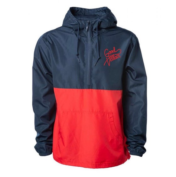 Image of GDVLN Anorak - Navy + Crimson