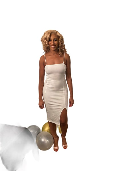 Image of White-Out Midi Dress