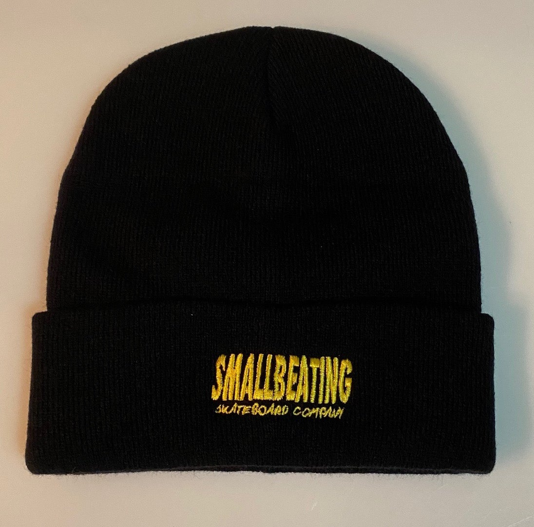 Image of BAR LOGO EMBROIDERED BEANIE