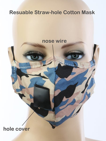 Image of CAMOURFLAGE DRINKING MASK
