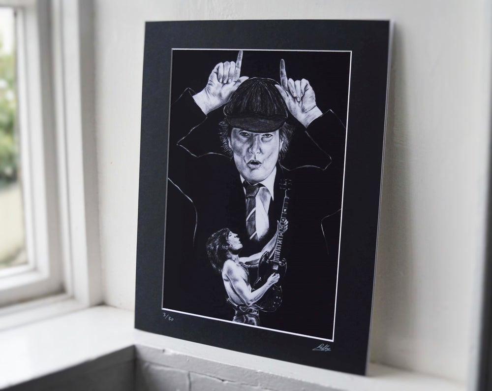 Angus Young (Limited edition print)