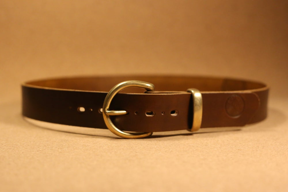 Image of Brigham - Casual Fitted Handmade  Leather Belt