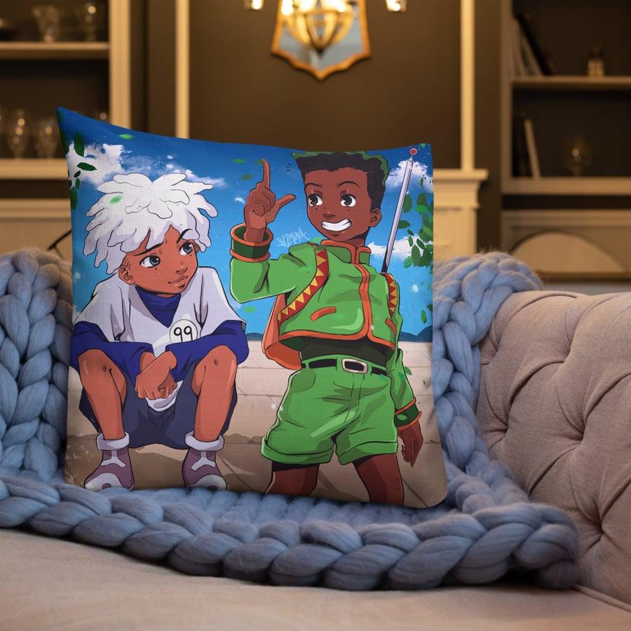 "Image of ""Gon and Killua"" Pillow"