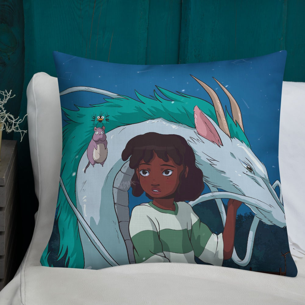 "Image of ""Spirited Away"" Pillow"