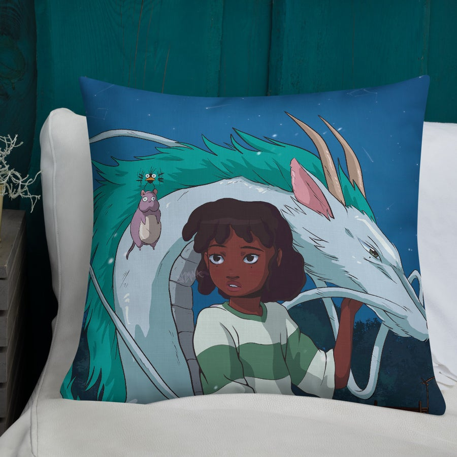 "Image of ""Spirited Away"" Pillow"