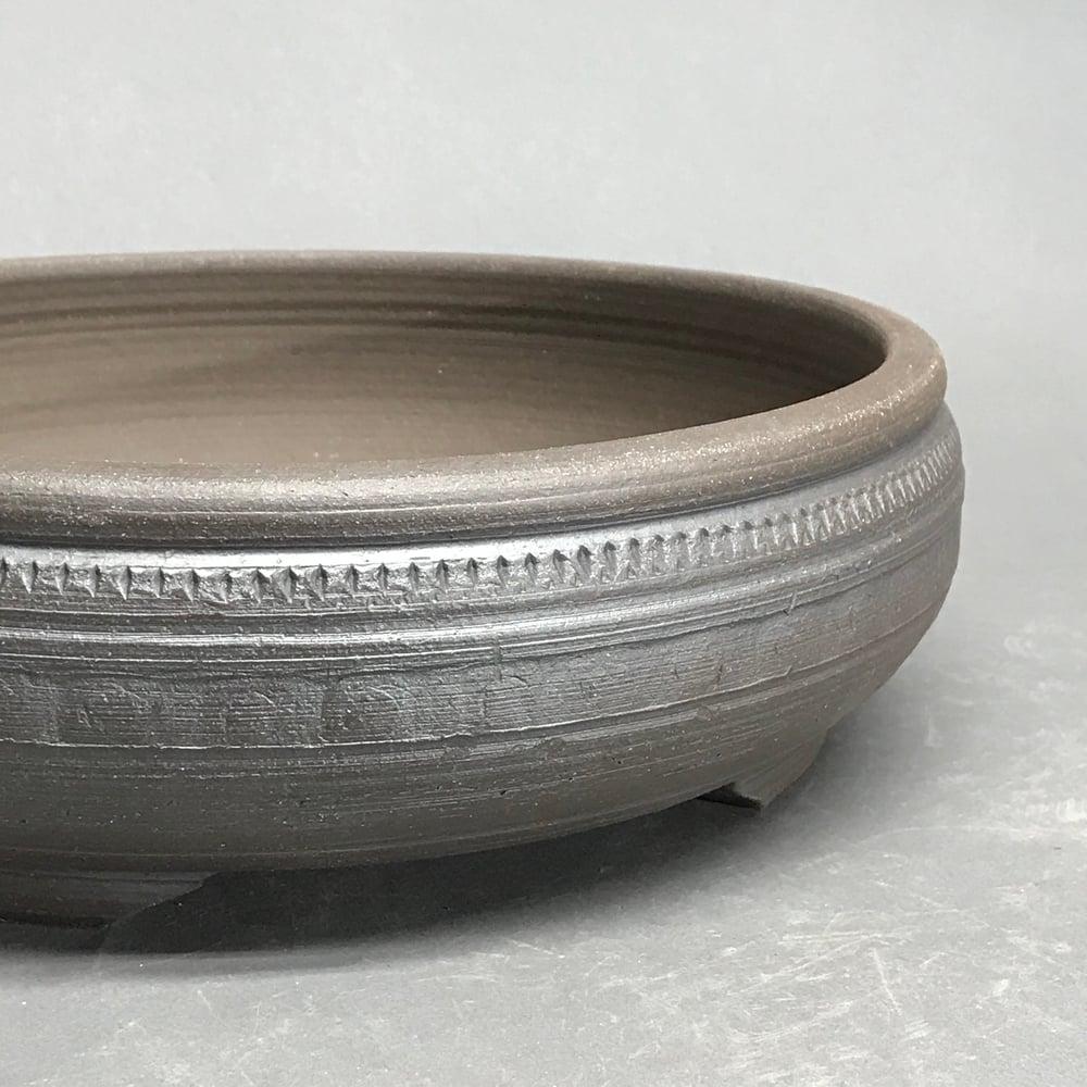 Image of 303 Large Unglazed Banded Round