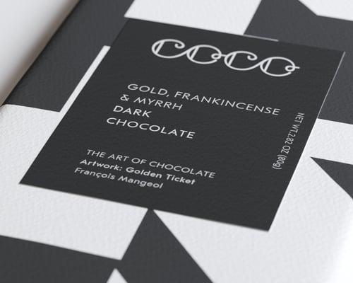 Image of Gold, Frankincense & Myrrh Dark Chocolate Bar