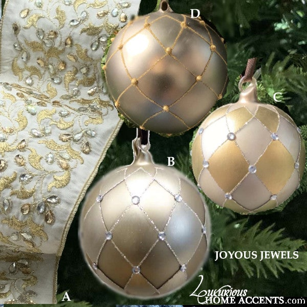 Image of Silver and Gold Christmas Ornaments